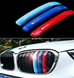 #6: Generic ABS 3D M style 3 Color Front Grille Girll Cover Trim Sticker car styling For 2016 2017 F48 BMW X1