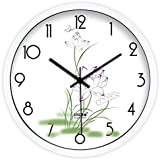 GAYY Simplicidad Creativa y Reloj de Pared de Lotus Fresco / Salón Dormitorio Reloj Silencioso,A,16 pulgadas