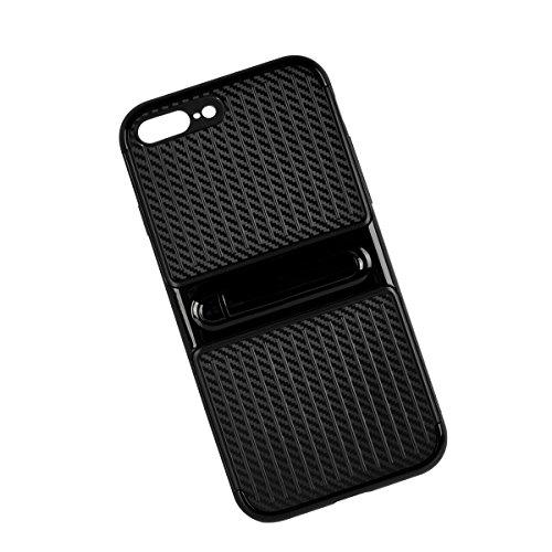 """MOONCASE iPhone 7 Plus Hülle, Hybrid Rugged Dual Layer Schutz Case Drop Resistance TPU Bumper Kippständer Handyhülle für iPhone 7 Plus 5.5"""" Golden Schwarz"""