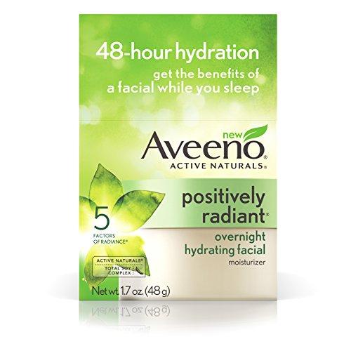 Aveeno Positiv Radiant Über Nacht Feuchtigkeitsspendende Gesichtscreme mit Soja-Extrakt und...