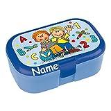 Lunchbox * SCHULANFANG plus WUNSCHNAME * für Kinder von Lutz Mauder // Brotdose mit Namensdruck // Perfekt für Jungen // Einschulung Schule Vesperdose Brotzeitbox Brotzeit (mit Namen)