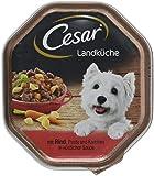 Cesar Hundefutter Nassfutter Landküche Rind und Pasta, 14 Schalen (14 x 150 g)