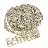 Ruban dentelle 12M coton Beige Lace Edge Trim Ribbon Craft Vintage Accessoires de mariage