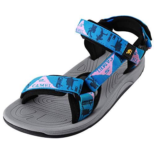 CAMEL CROWN Sandali da Spiaggia per Donna Traspirante Antiscivolo Leggeri Sandali da Trekking per Estate Atletica Sportivo Escursionismo All'aperto