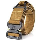 Cinturón táctico Cinturón de servicio pesado Cinturones de nylon ajustable de estilo militar con hebilla de metal Sistema Molle 1.75
