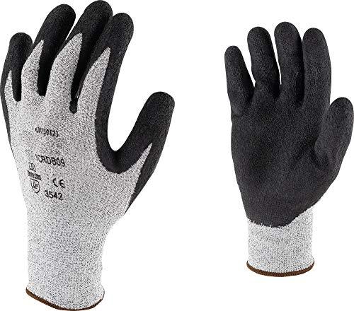 15bb46783a903 Gant de Protection résistant à la Coupure Latex Cap Vert - Noir - Taille 10