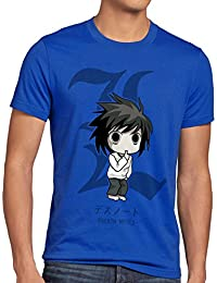 style3 L Death Note Camiseta para hombre T-Shirt anime manga yagami