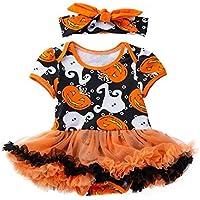 Sallydream- Cosplay Cumpleaños Vestido de Princesa Infantil Niño Bebé Niñas Halloween Calabaza Arco Vestido de Fiesta Ropa Vestidos