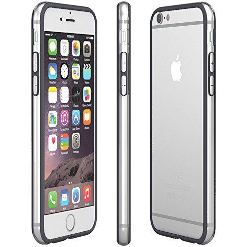 Apple iPhone 6S / 6 Hülle, EAZY CASE Bumper - Premium Handyhülle aus Silikon - Flexible Schutzhülle als Cover in Rosa Anthrazit