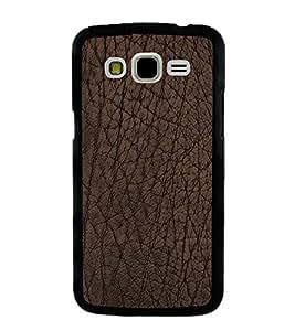 PrintVisa Designer Back Case Cover for Samsung Galaxy J5 (2015) :: Samsung Galaxy J5 Duos (2015 Model) :: Samsung Galaxy J5 J500F :: Samsung Galaxy J5 J500Fn J500G J500Y J500M (Dark Brown Colour leather Pattern)
