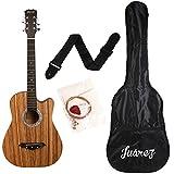Best Acoustic Guitars - Juarez JRZ 38C/Zeb 6 Strings Acoustic Guitar 38 Review