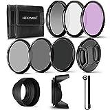 Neewer 72 mm filtro de lente profesional UV CPL FLD y filtro de densidad neutra ND (ND2, ND4, ND8)...