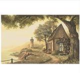 Ayzr 3D Tapete Benutzerdefinierte Big Tree Landschaft Tapete Für Wände 3 D Schlafzimmer Wohnzimmer Sofa Hintergrund Tapeten Wohnkultur, 350 Cmx260 Cm