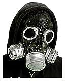 Horror-Shop Zombie Gasmaske schwarz