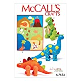 McCall's Patterns 7553 OS,Quilt and Dinosaur Stuffed Toys, Multi/colour