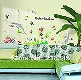 Wandaufkleber Unter Meer Dolphin Fish Animal Decor Aufkleber Wohnzimmer Badezimmer Wasserdichte Kunstwand Wandaufkleber