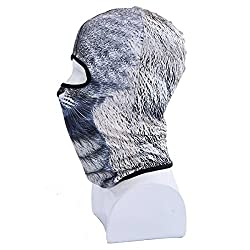 GSD Face Mask Winter Motorcycle Balaclava Hood Outdoor Sport Cosply Costume Neck Warmer with 3D Animal Printed Ski Mask from GSD