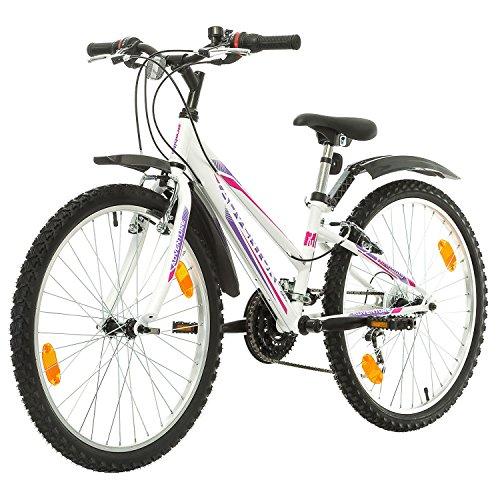 516 t0WYKcL. SS500  - Multibrand, PROBIKE ADVENTURE, 24 inch, 290 mm, Mountain Bike, 18 speed, Mudgard Set, For Women, Kids, Juniors, White