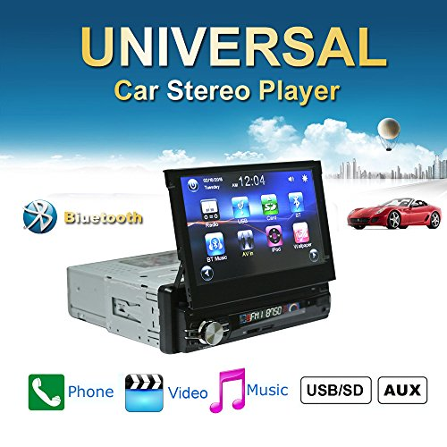 Ezonetronics 7 inch Flip Out 1DIN Car Stereo Play Phone Music Via USB AM/FM Radio Bluetooth MP3 MP4 Player with USB/SD 0013