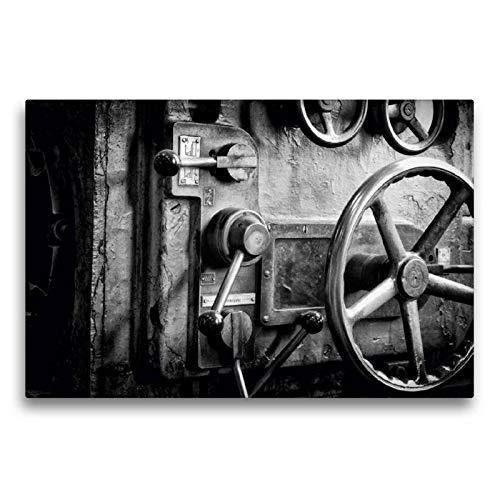Calvendo Premium Textil-Leinwand 75 cm x 50 cm quer, Drehbank | Wandbild, Bild auf Keilrahmen, Fertigbild auf echter Leinwand, Leinwanddruck Technologie Technologie