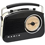 Radio Enceinte rétro 60's Bluetooth Noire La chaise longue 34-2D-002