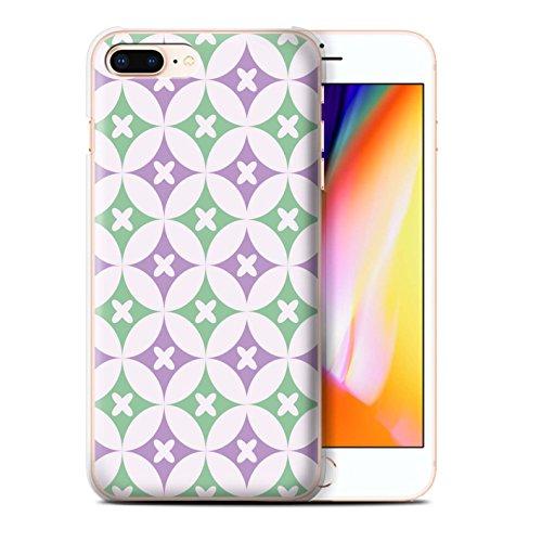 Stuff4 Hülle / Case für Apple iPhone 8 Plus / Blau/Braun Muster / Kaleidoskop Kollektion Violett / Grün