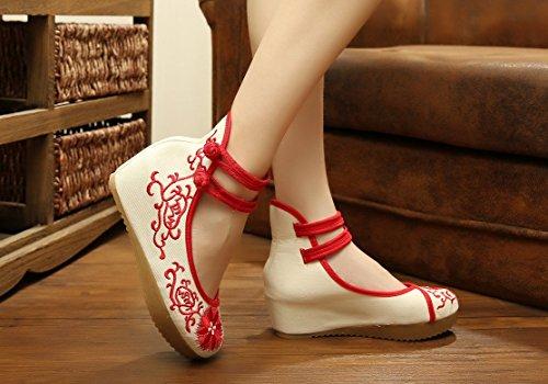 Donna Cinturino Donna Rosso Caviglia Ezshe Ezshe Caviglia Cinturino Caviglia Rosso Ezshe wgUvxxX7q