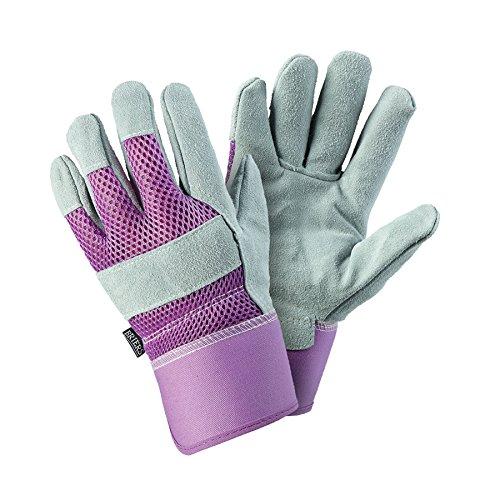 Briers Rigger Handschuhe, Lavendel, klein (Damen Leder Belüftet)