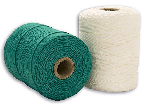 Cordamanía CMIP00PHAD - Pack de 2 unidades de hilo de replanteo (200 m) color verde y blanco