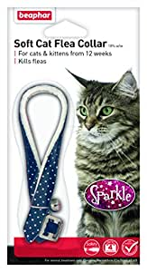 Beaphar Cat Flea Sparkle Collar, Colours May Vary, Red/ Black/ Blue(Pack of 2)