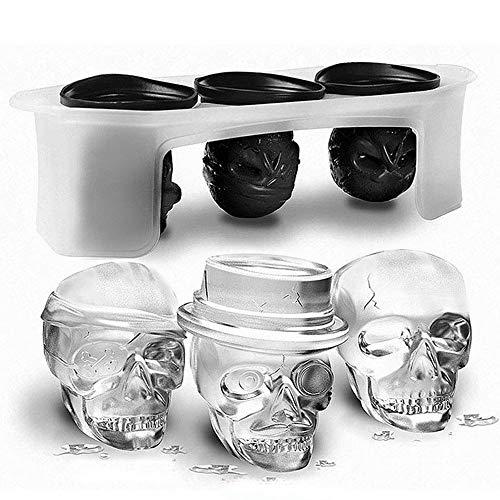CHYOOO Eiswürfelform Kreatives Halloween-Silikon in Lebensmittelqualität Ist LFGB-Zertifiziert Für Die Wiederverwendung Eiswürfelbehälter Für Whisky, Babynahrung (Verpassen Halloween Kreative)