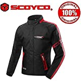 Scoyco JK34-2 Bike Protective CE Certified All weather Premium Jacket-Black and Red Size-40