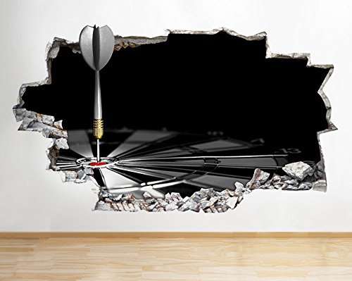 q727-darts-mancave-game-bedroom-smashed-wall-decal-3d-art-stickers-vinyl-room