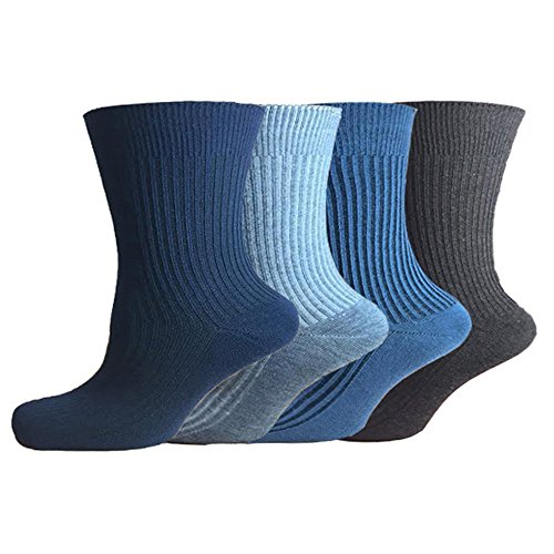 mens-100-cotton-non-elastic-loose-wide-top-diabetic-socks-size-6-11-uk-mix-12-pairs