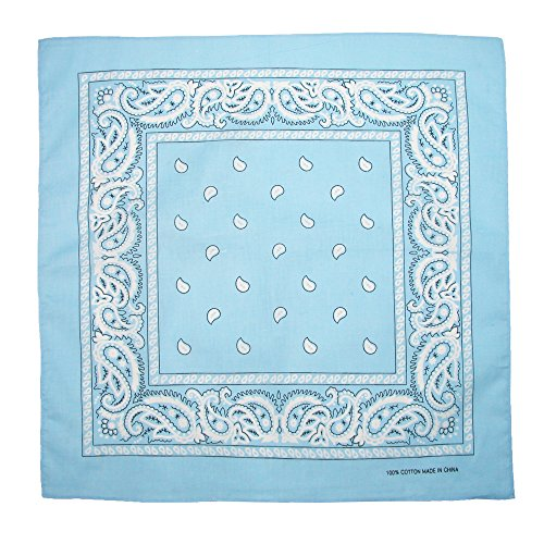 CTM Baumwolle Paisley-Bandana Gr. onesize, Blau - LT Blue (Bandanas Blue Paisley)
