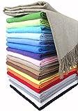 Baumwolldecke Wohndecke Kuscheldecke Tagesdecke 100% Baumwolle 130 x 170 cm sehr weiches Plaid Rio Alle Farben (Beige)