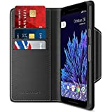 Google Pixel 2 XL Wallet Case, Maxboost [Folio Style] Premium Google Pixel 2 XL Card Cases STAND Feature [Black] Protective PU Leather Flip Cover with Card Slot + Side Pocket Magnetic for Pixel 2 XL