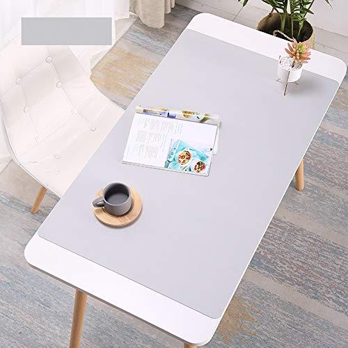 Schreibtischunterlage aus wasserdichtem PU-Leder für das Büro und Zuhause, rechteckig 100x50cm hellgrau
