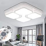 MYHOO 48W LED Deckenleuchte Design Dimmbar LED Deckenlampe Leuchte Wandlampe Wohnzimmer mit Fernbedienung[Energieklasse A++]