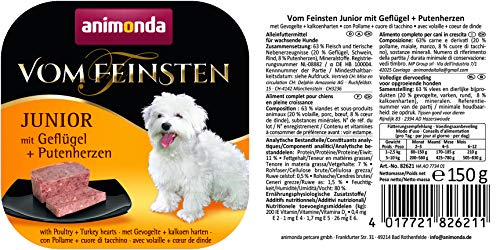 Animonda vom Feinsten Junior 82621 Geflügel+Putenherzen 22 x 150 g Schale – Hundefutter - 6