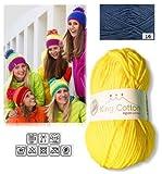 Grundl Wolle Strickgarn Häkelgarn KING COTTON ägyptische Baumwolle+Acryl stricken häkeln Farbe_16_jeans-blau