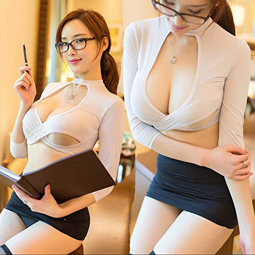 Sekretärin Kostüm - Sexy sekretärin uniform set sexy nachtclub dress cosplay porno kostüme cosplay rolle spielen kleidung