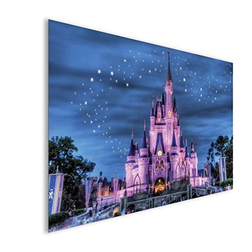 Rosa Schloss Walt Disney Fantasy Acrylglas Wand Kunst - XL 112cm x 70cm (Walt Disney Schloss)