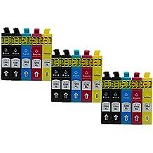 ColorJoy recambio para EPSON T1291/T1292/T1293/T1294 cartucho de tinta para impresión oficial compatible para impresoras EPSON Stylus SX420W/425W/525WD/620FW