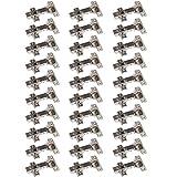 30 x SO-TECH® Topfband Topfbänder T45 Eckanschlag mit Dämpfer + Kreuzplatte Scharnier Scharniere Topfscharniere (Einzeln und als 6er, 10er, 20er oder 30er Set erhältlich!)