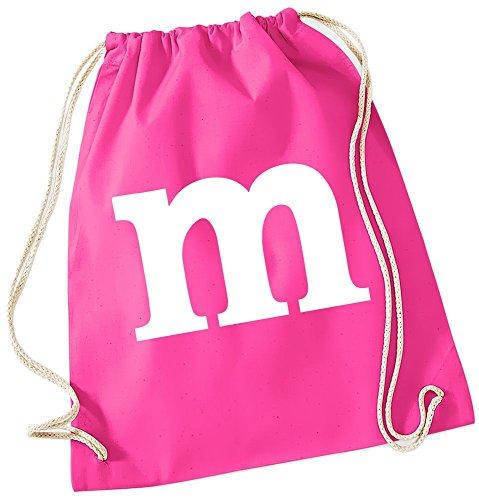 m Aufdruck ! Gymbag Pink (Rosa Kostüme Gangster)