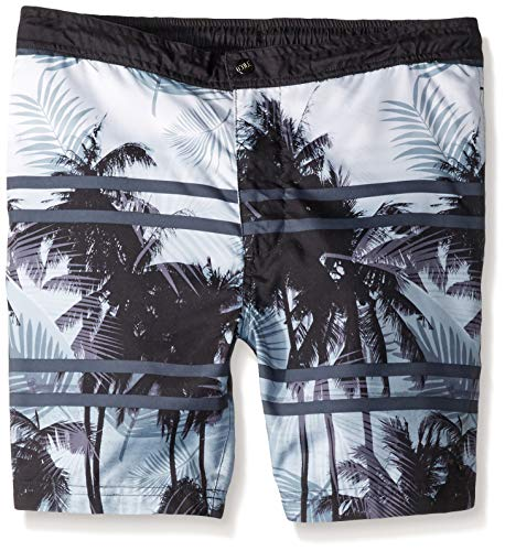 Cole Hersee Herren Mens Printed Drawstring Swim Trunk with 6 Inch Inseam Badehose, Tropisches Muster, Medium - Muster Swim Trunk