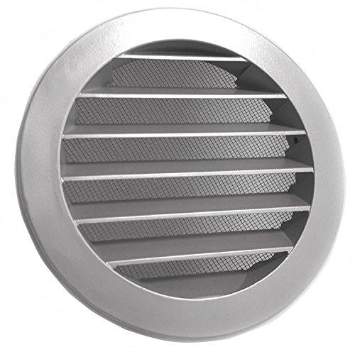Intelmann Wetterschutzgitter Grau Ø 150 Aluminium