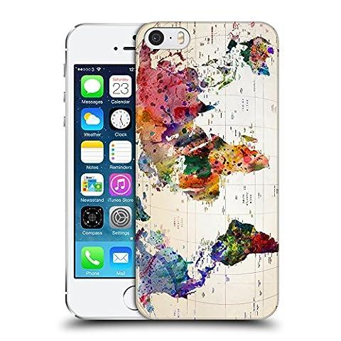 Officiel Mark Ashkenazi Carte Du Monde Culture Pop Étui Coque D'Arrière Rigide Pour Apple iPhone 5 / 5s / SE