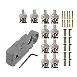 MANAX conectores F y BNC // cables RG 6, RG 58, RG 59, RG174 Crimpadora
